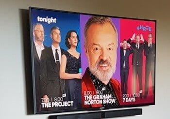 installed TV