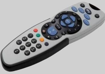 sky tv remote control white